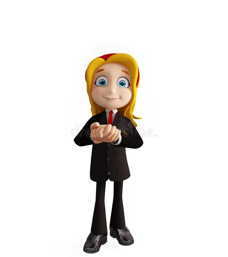 有诺言姿势的女实业家 向量例证