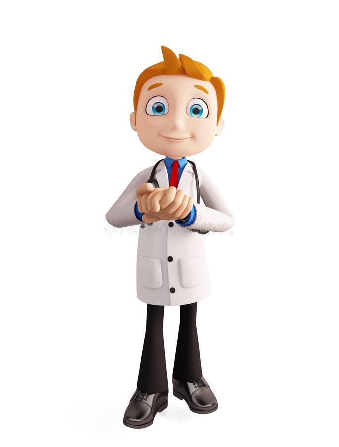 有诺言姿势的医生 向量例证