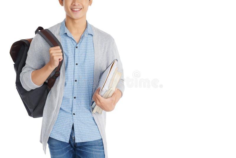 有课本的大学生 库存照片