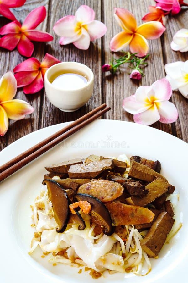 有豆腐的,虾,猪肉米线绉纱 免版税库存图片