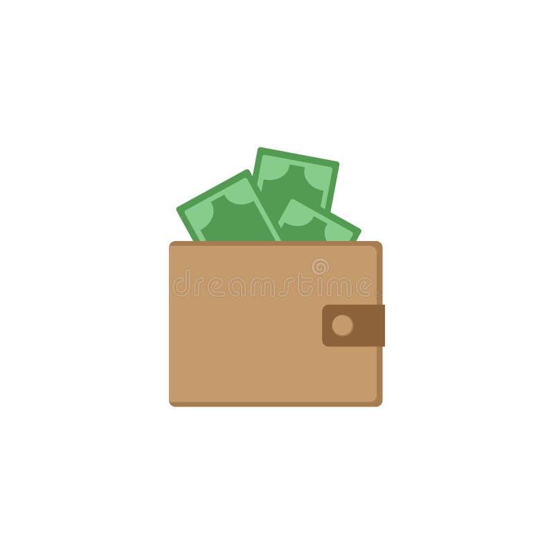 有货币的钱包 奶油被装载的饼干 也corel凹道例证向量 10 eps 库存例证