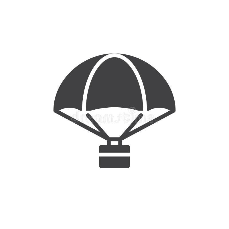 有货物象传染媒介的降伞 库存例证