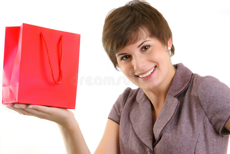 有购物袋的妇女 库存图片