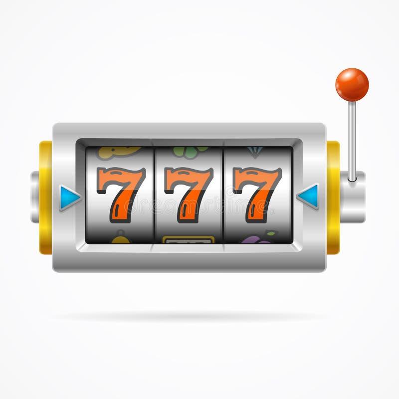 有赌博一条的胳膊的老虎机 向量 库存例证