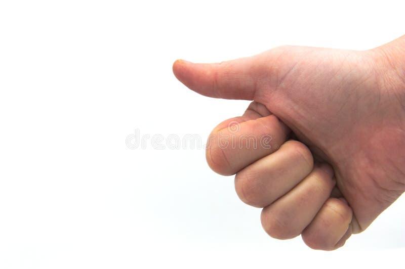 有赞许的一个拳头被隔绝的 免版税图库摄影