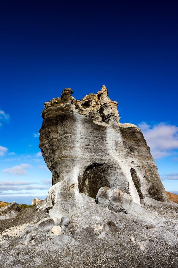 有趣的地质结构,兰萨罗特岛,西班牙 免版税库存照片
