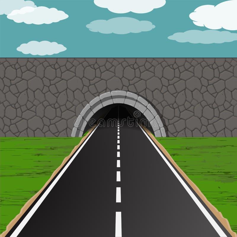 有路例证的隧道 向量例证