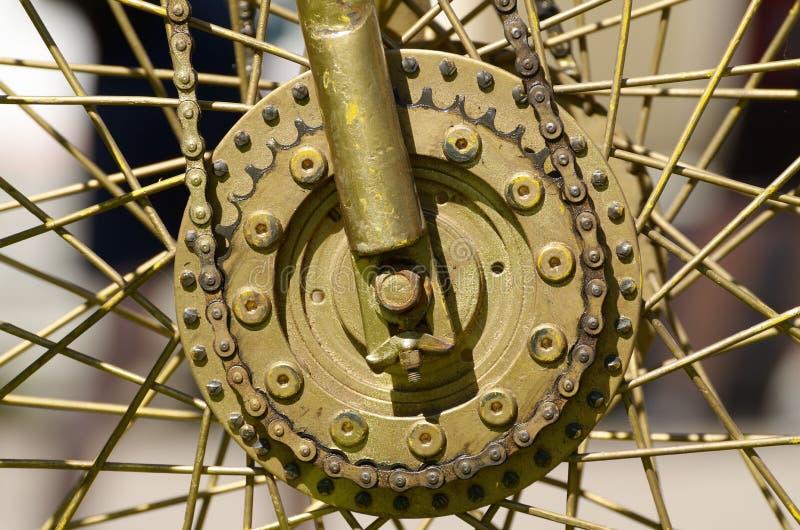 有轮幅的轮子从自行车 免版税库存照片
