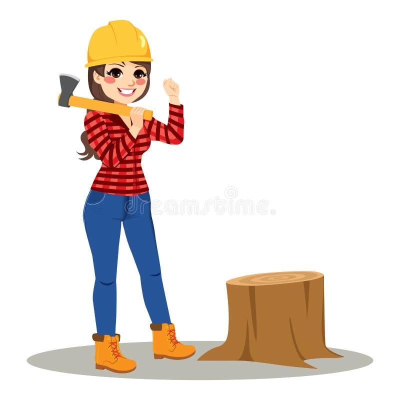 有轴的妇女伐木工人 皇族释放例证