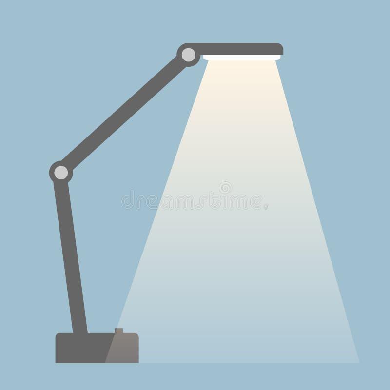 有轻的小河的台灯 被隔绝的平的颜色样式例证 皇族释放例证