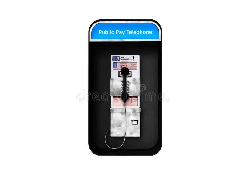 有输送路线电话的电话亭城市分界线的3d回报在白色背景阴影 向量例证