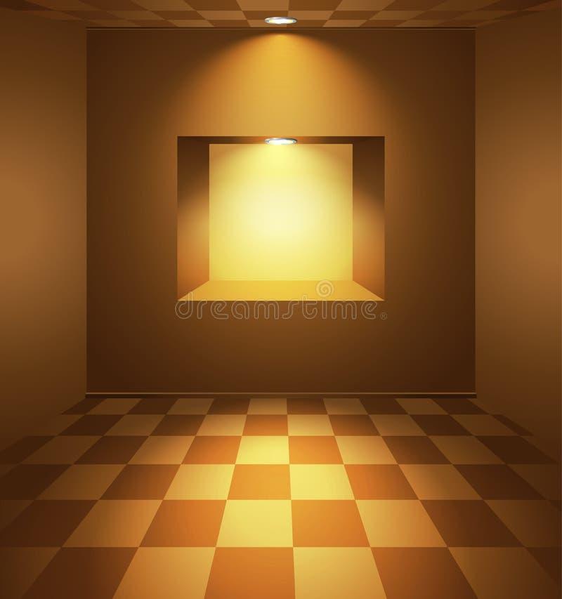 有适当位置的布朗室 库存例证