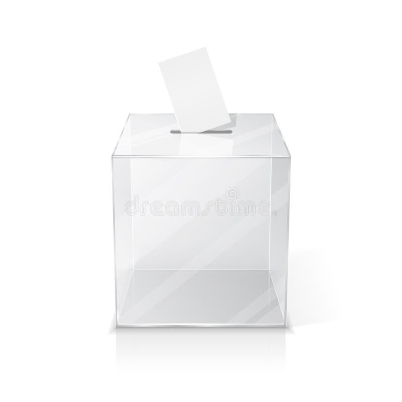 有选票的现实空的投票箱 皇族释放例证