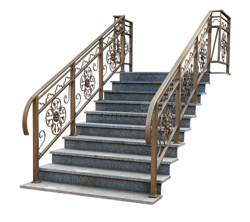有透雕细工栏杆的台阶 库存照片