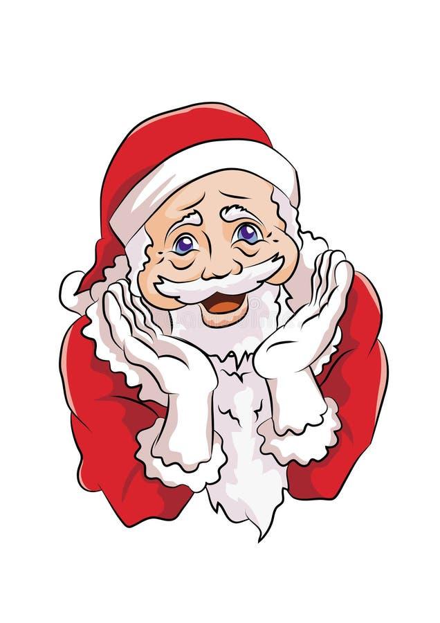 有逗人喜爱的姿势的圣诞老人 免版税库存照片