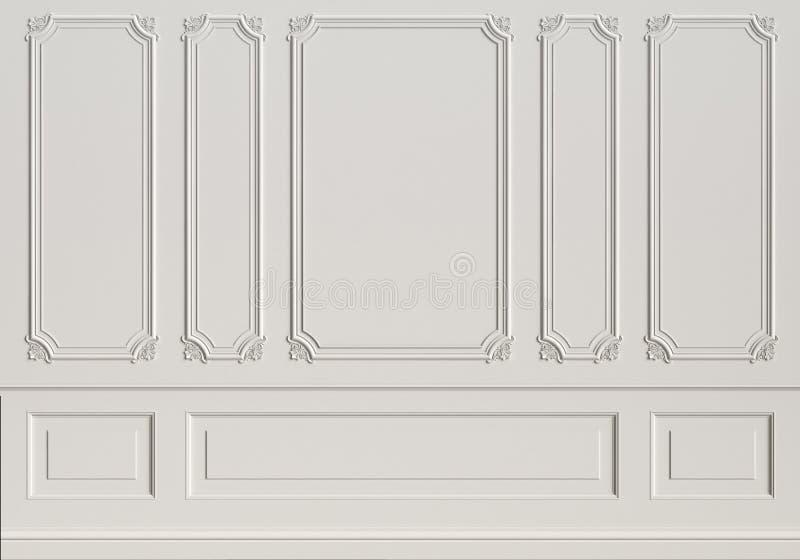 有造型的经典内墙 皇族释放例证