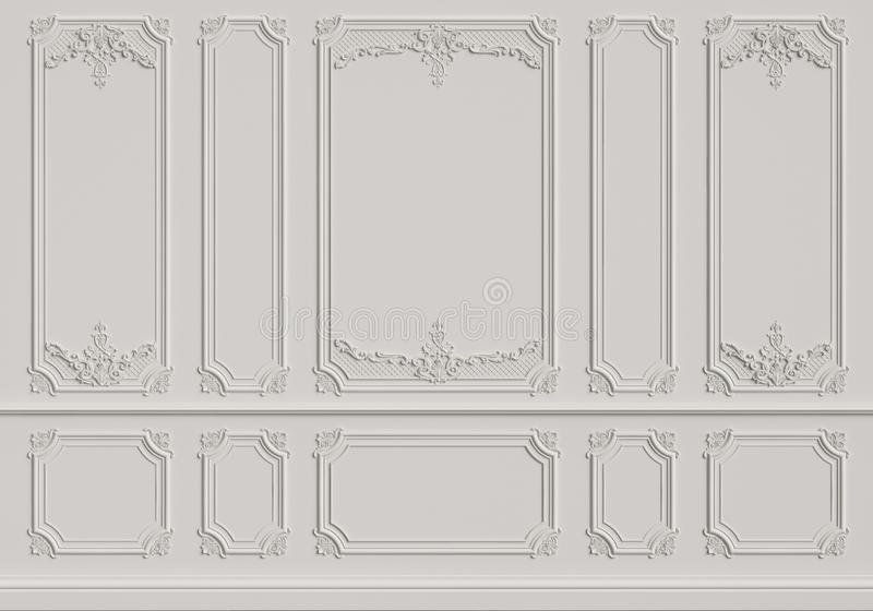 有造型的经典内墙 向量例证