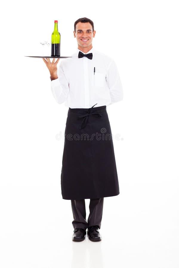 酒服务员 库存照片