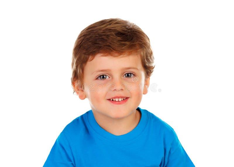 有金发的可爱的婴孩 免版税库存图片