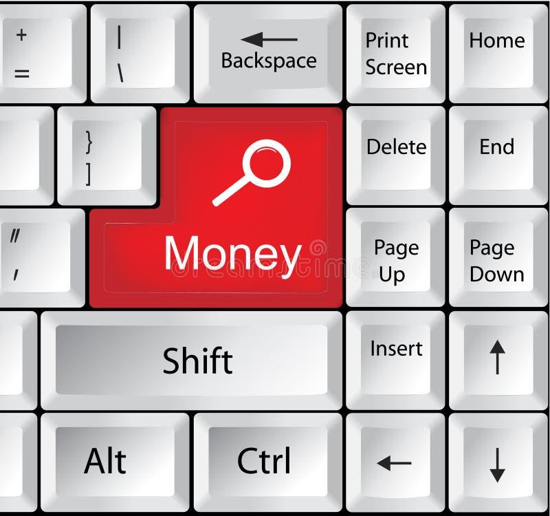 有金钱企业概念的键盘 图库摄影