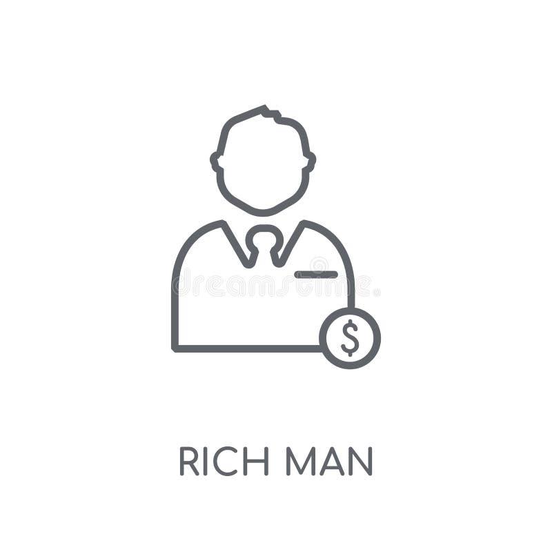 有钱人线性象 在wh的现代概述有钱人商标概念 向量例证