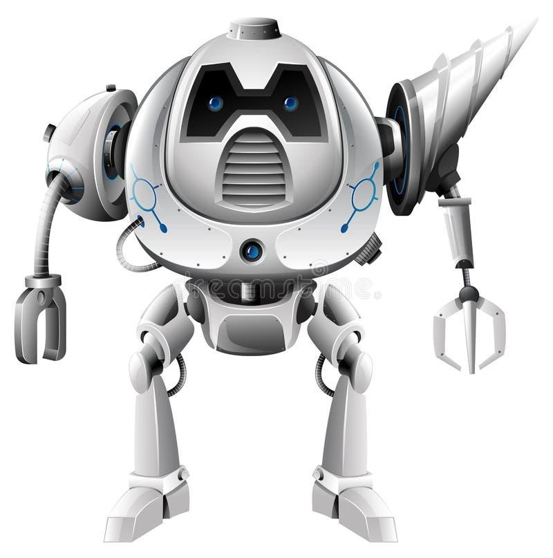 有钻子肩膀的现代机器人 向量例证