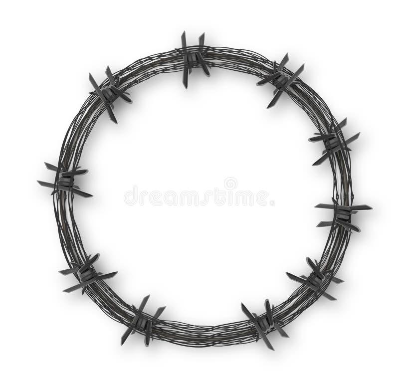 有铁丝网的冠 向量例证