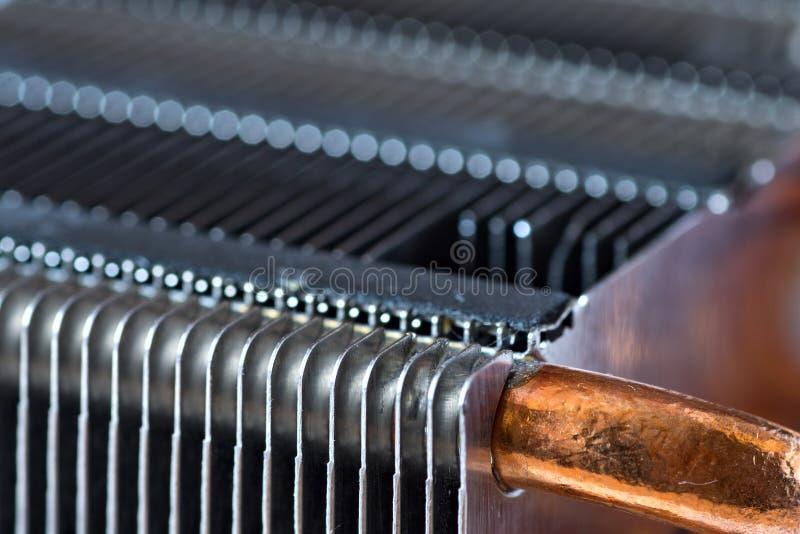 有铜热导管的铝幅射器 图库摄影