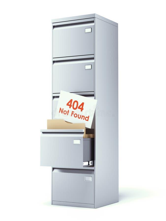 有错误的文件柜 库存例证