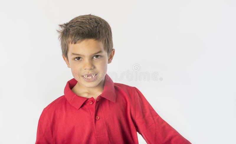 有错过的前牙英俊的男孩 库存照片