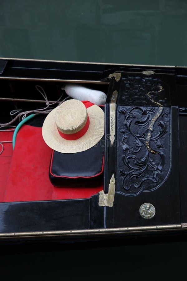 有长平底船的威尼斯在大运河 免版税库存照片