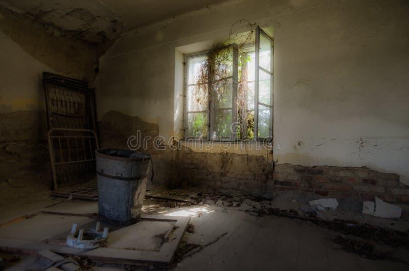 有长得太大的窗口的室 免版税库存图片