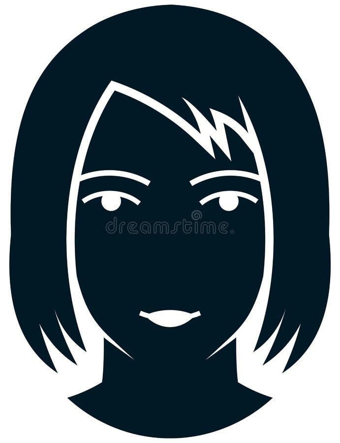 有长的头发例证的传染媒介妇女 皇族释放例证