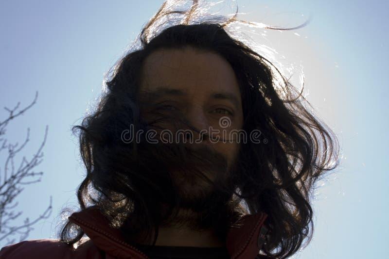 有长的头发的人 免版税库存照片