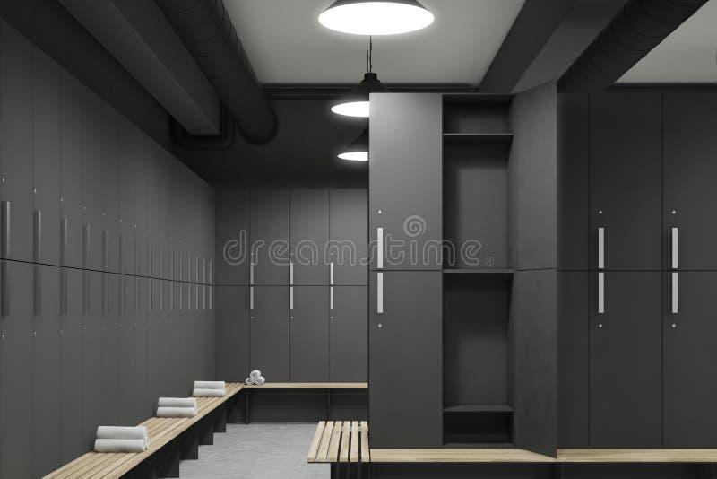 有门户开放主义的灰色更衣室 库存例证