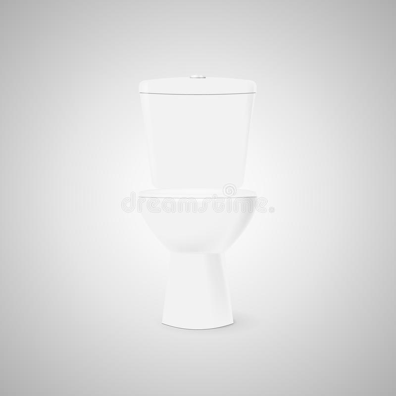 有闭合的盖子的白色马桶 向量例证