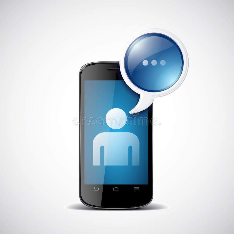 有闲谈象的智能手机 向量例证