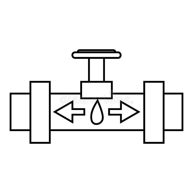 有阀门象的,概述样式管子 向量例证