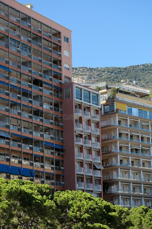 有阳台的高住宅房子 图库摄影