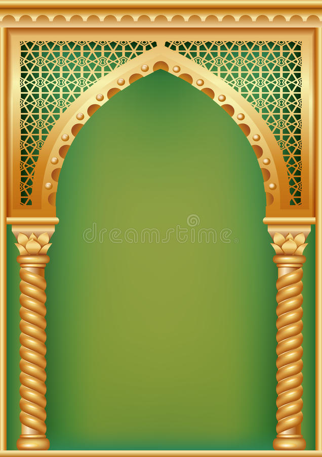 有阿拉伯曲拱的盖子 库存例证