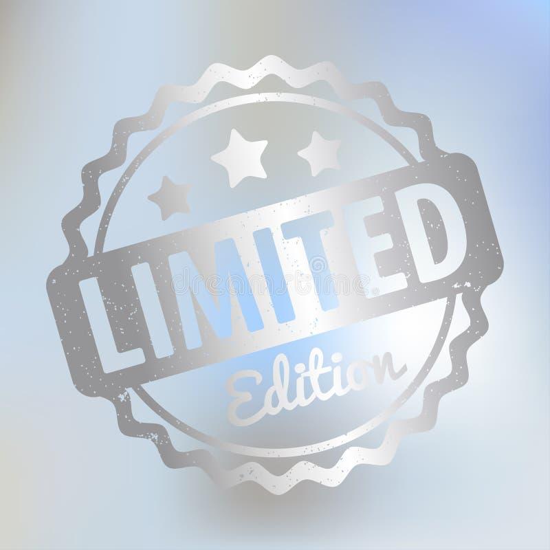 有限版不加考虑表赞同的人奖在lila bokeh背景的传染媒介银 向量例证