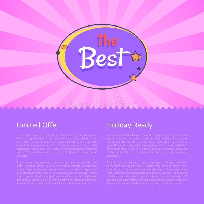 有限的提议假日准备好最佳的夜销售横幅 向量例证