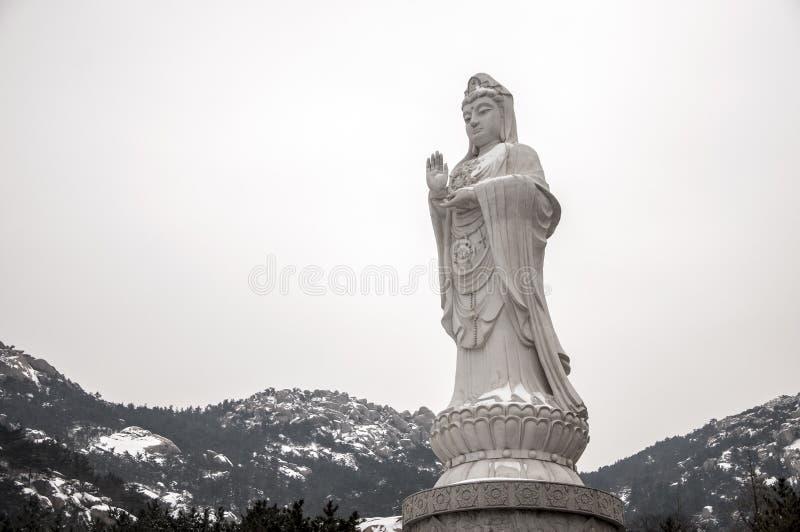 有雪的女神Pusa 免版税库存照片