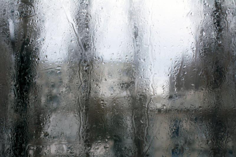 有雾在玻璃窗 免版税库存照片
