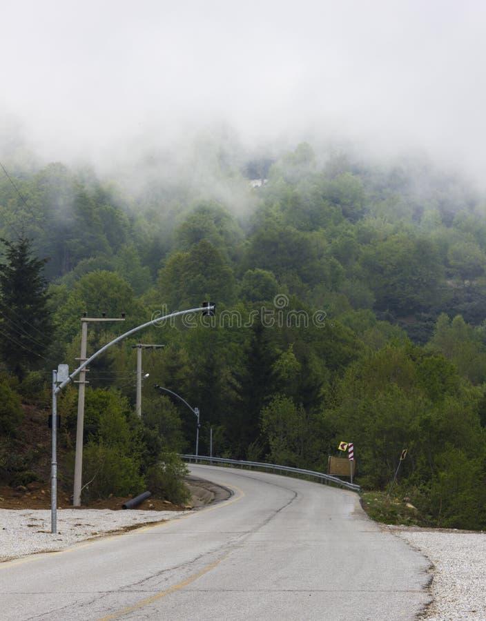 有雾平直 库存照片