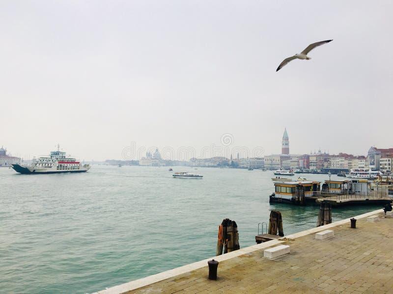 有雾的威尼斯 免版税库存图片