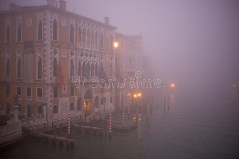 有雾的威尼斯 库存照片