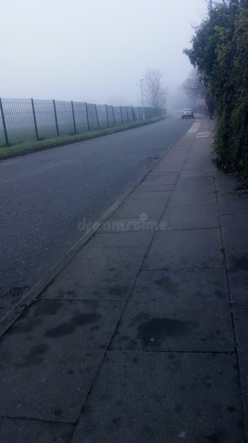 有雾的早晨在利物浦 库存照片
