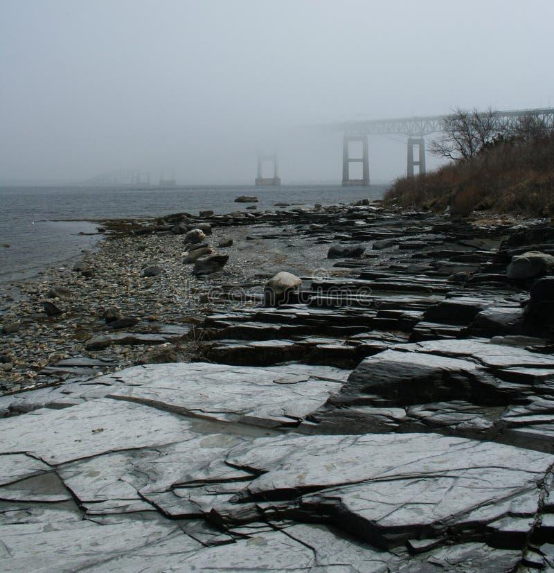 有雾的桥梁 库存图片