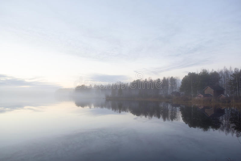 有雾的视图 库存照片